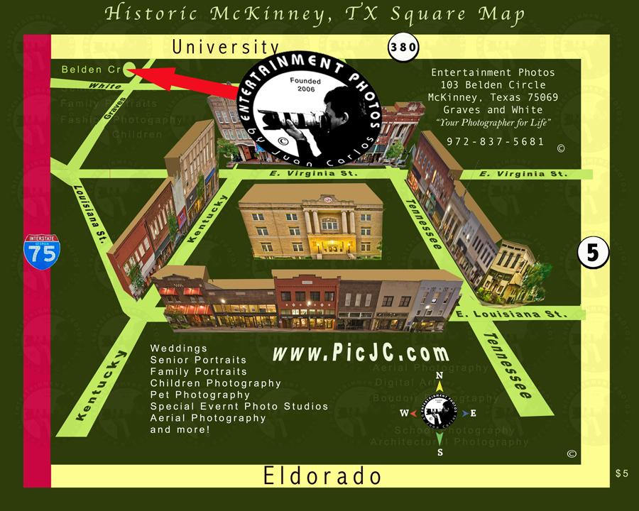 Map to Entertainment Photos by Juan Carlos epoof is our new Web Page Photographer Mckinney tx