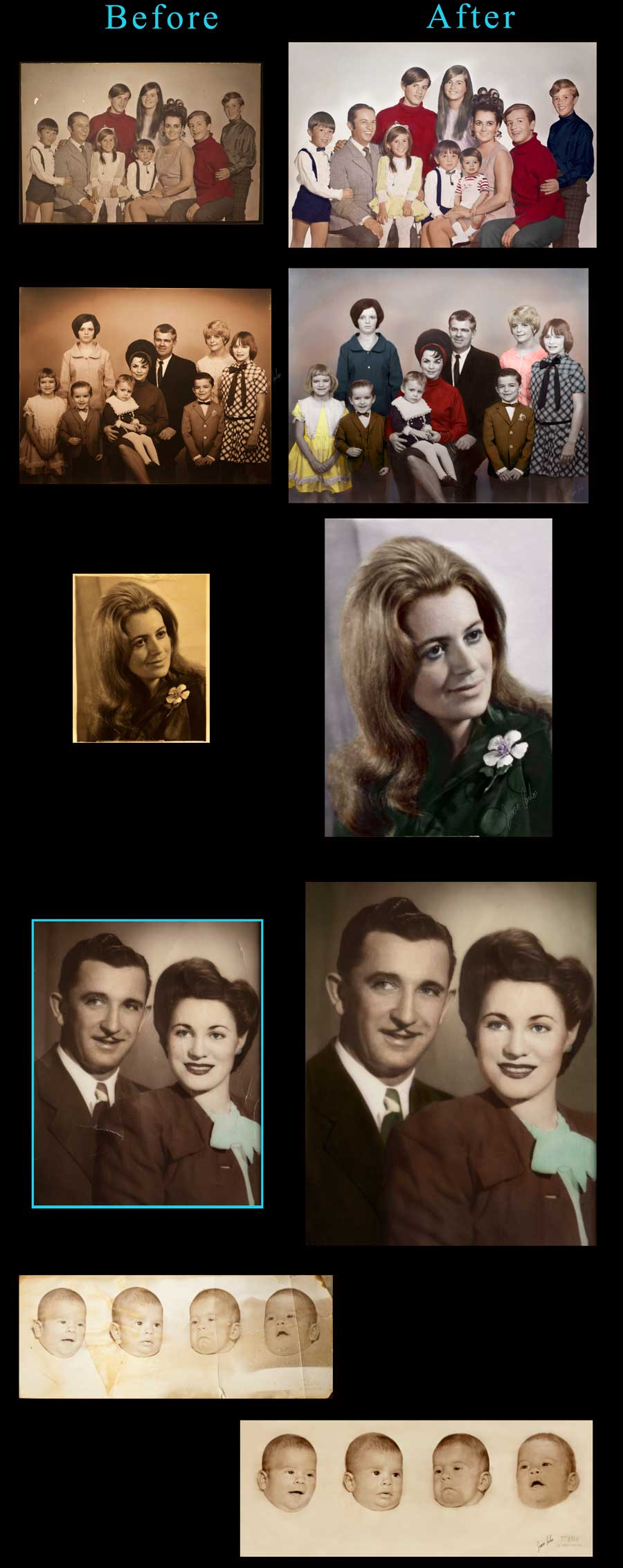 Photo Restoration by Juan Carlos of Entertainment Photos Award wining photographer and digital artist at epoof